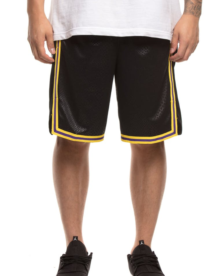 1993d9e3e128 Los Angeles Lakers Nike NBA City Edition Swingman Shorts Black Yellow –  Culture Kings