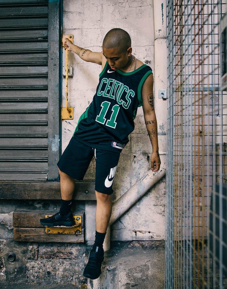 lowest discount top design famous brand Nike Kyrie Irving Statement Edition Swingman Jersey Boston Celtics  Black/Green