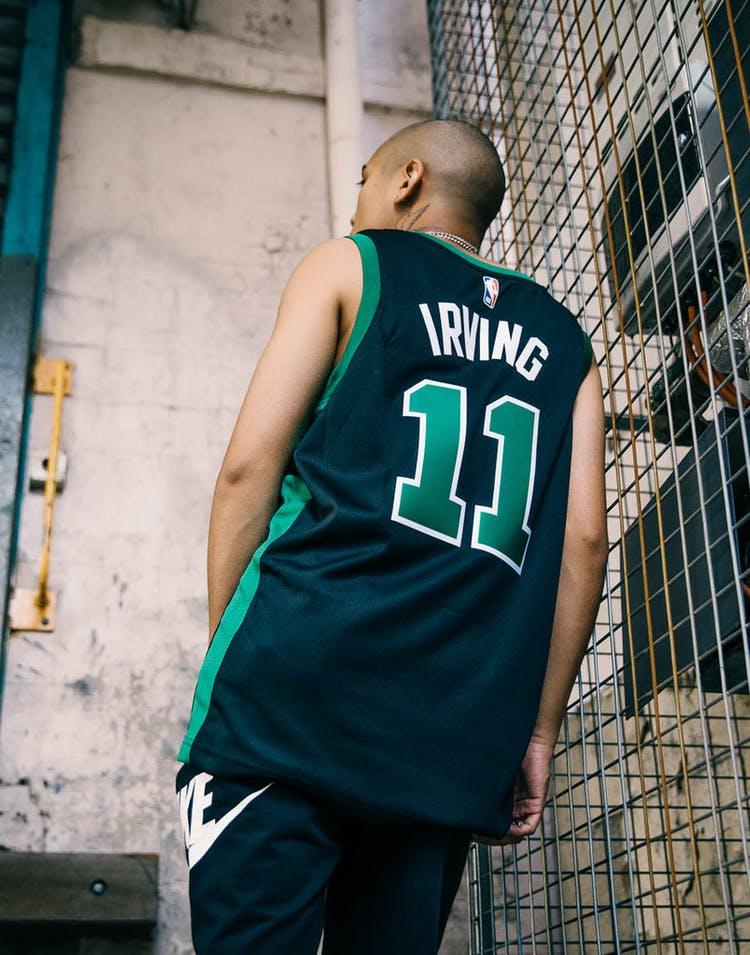 low priced be753 fba28 Nike Kyrie Irving Statement Edition Swingman Jersey Boston Celtics  Black/Green