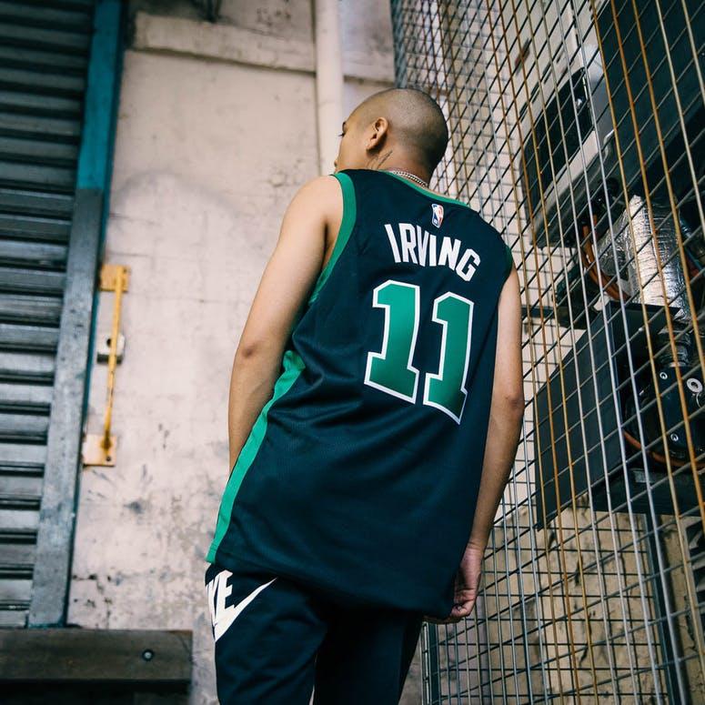 low priced 35753 da5a4 Nike Kyrie Irving Statement Edition Swingman Jersey Boston Celtics  Black/Green
