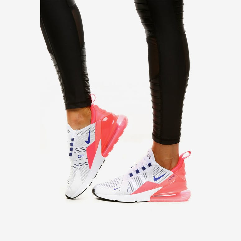 Nike Women s Air Max 270 White Blue Pink  70ea06660