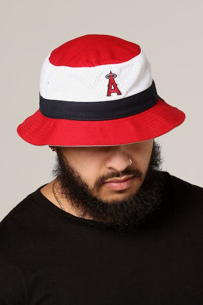 47 Brand Los Angeles Angles Double Line Bucket Red/White