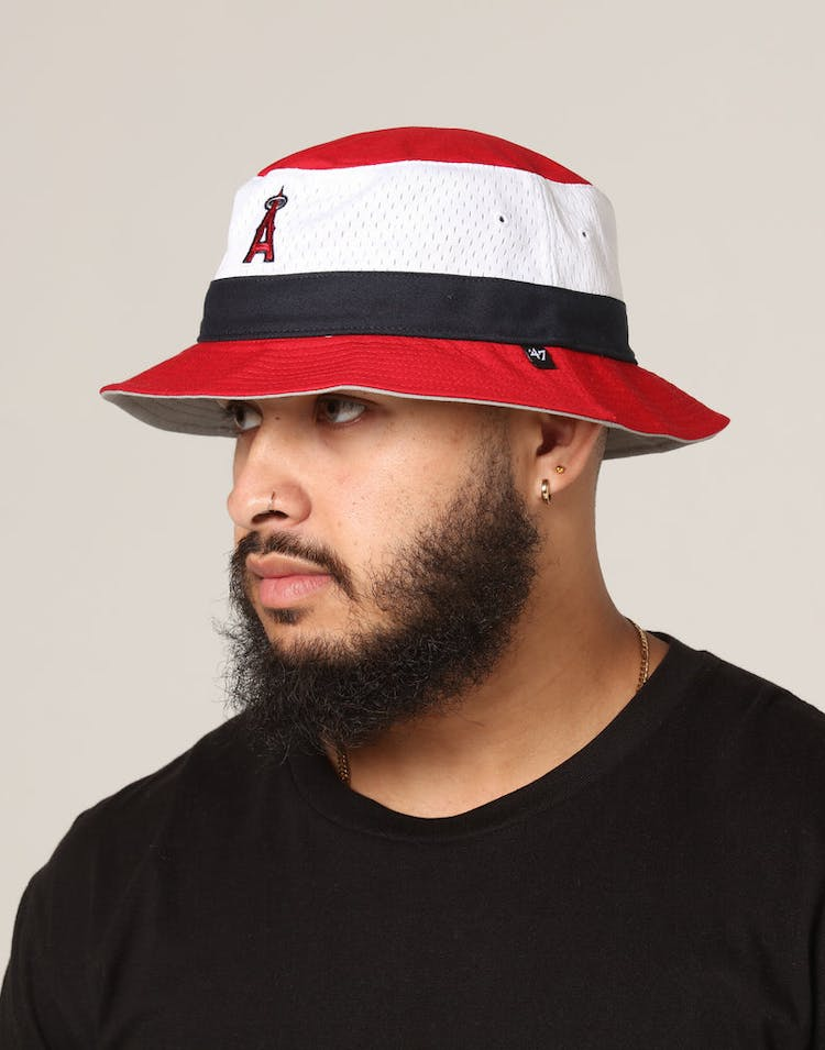 4f3473b2 47 Brand Los Angeles Angles Double Line Bucket Red/White – Culture Kings