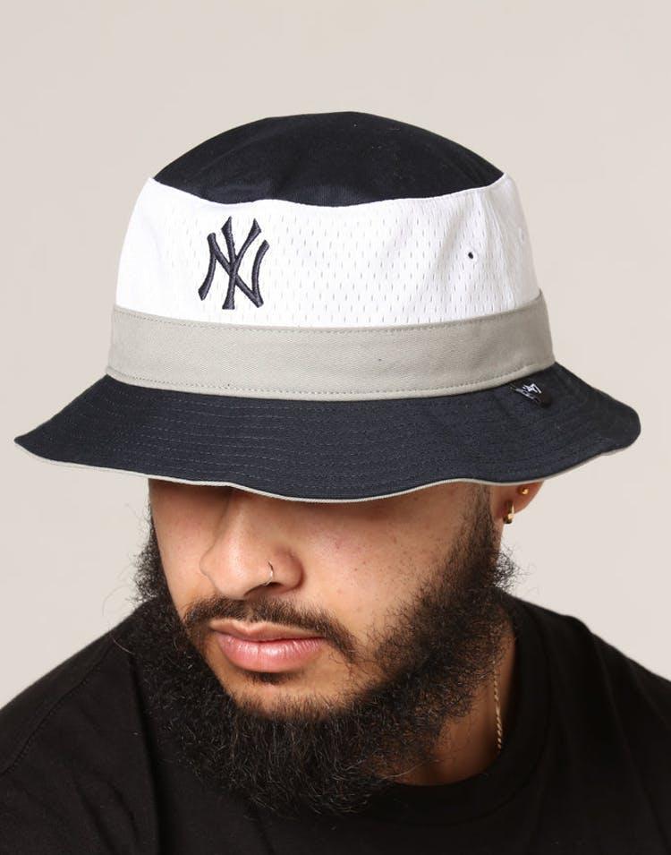 cc394bbe8 47 Brand New York Yankees Double Line Bucket Navy/White