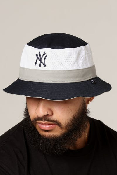 47 Brand New York Yankees Double Line Bucket Navy/White