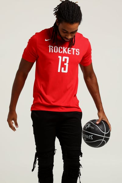 c6aae1c15 Nike Houston Rockets James Harden  13 Dry Tee Red