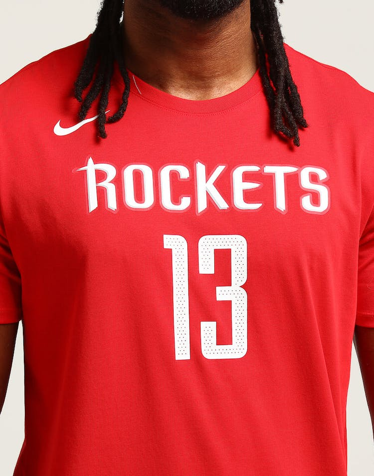 9a90ad1fd52 Nike Houston Rockets James Harden  13 Dry Tee Red – Culture Kings