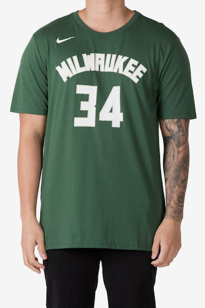 Giannis Antetokounmpo Milwaukee Bucks Nike Dry Tee Green