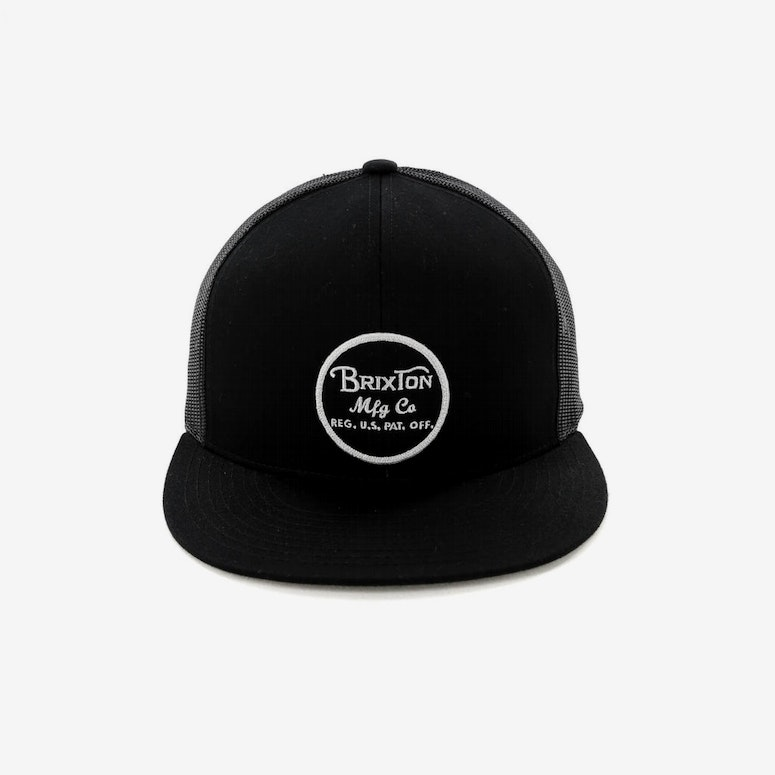 1ae941fb95687 Brixton Wheeler Mesh Cap Black Black – Culture Kings