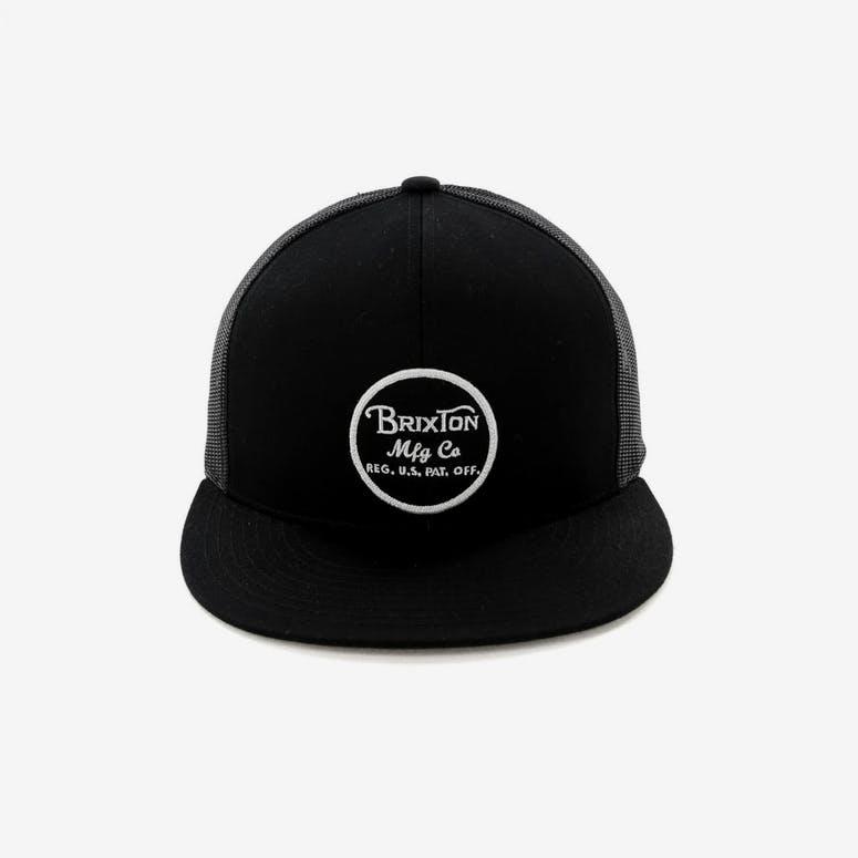e138d4feeec Brixton Wheeler Mesh Cap Black Black – Culture Kings