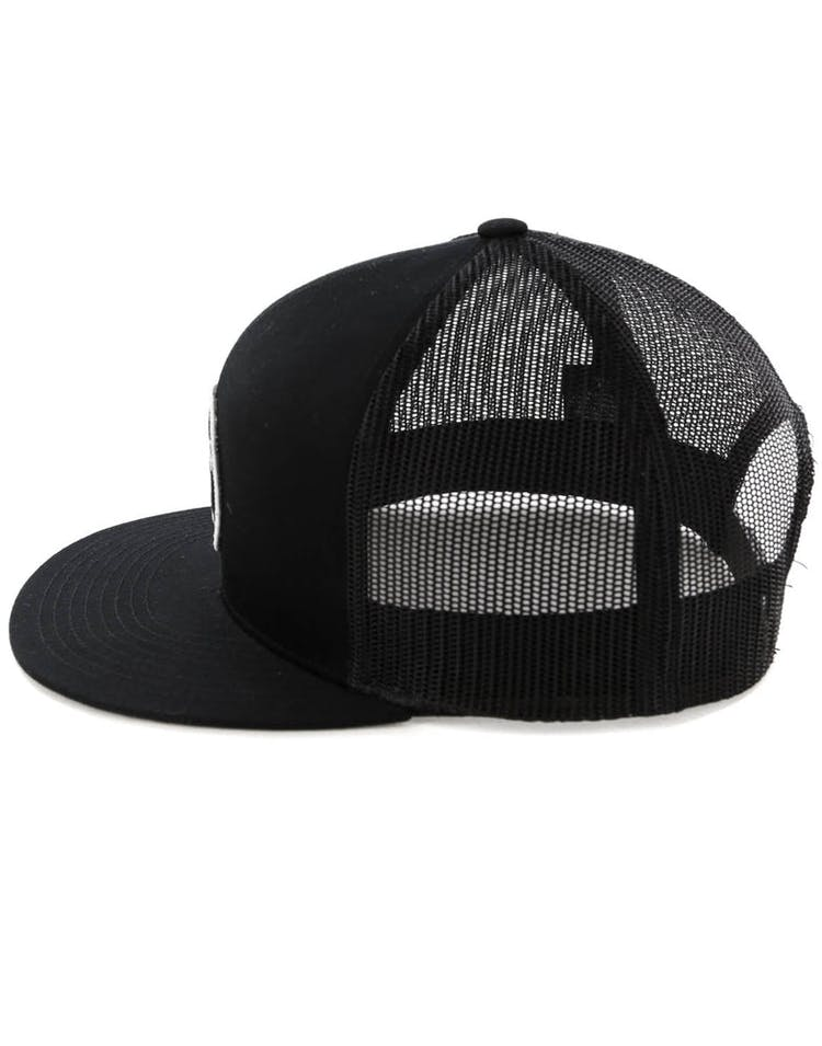 38683566b0fca4 Brixton Wheeler Mesh Cap Black/Black – Culture Kings