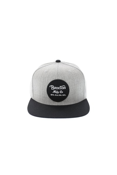 Brixton Wheeler Snapback Heather Grey/black