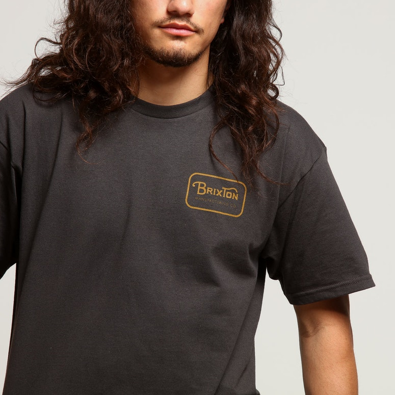 Brixton Grade S/S Standard Tee Washed Black/Gold