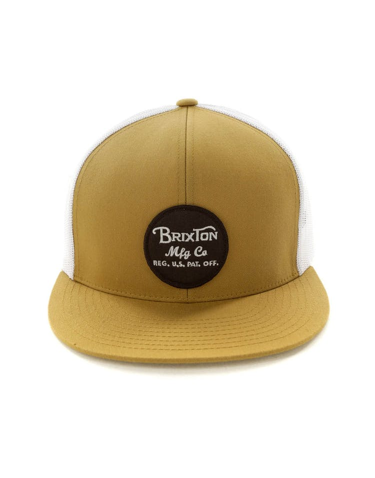 715f927a665f14 Brixton Wheeler Mesh Cap Copper – Culture Kings