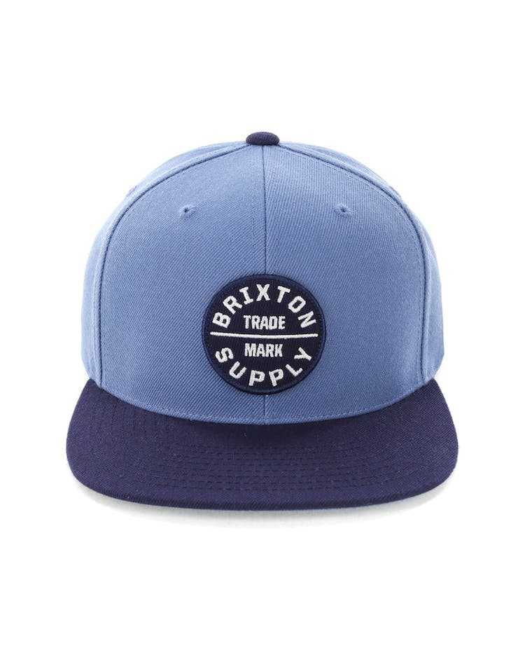 e760178365a6c Brixton Oath III Snapback Grey Blue – Culture Kings