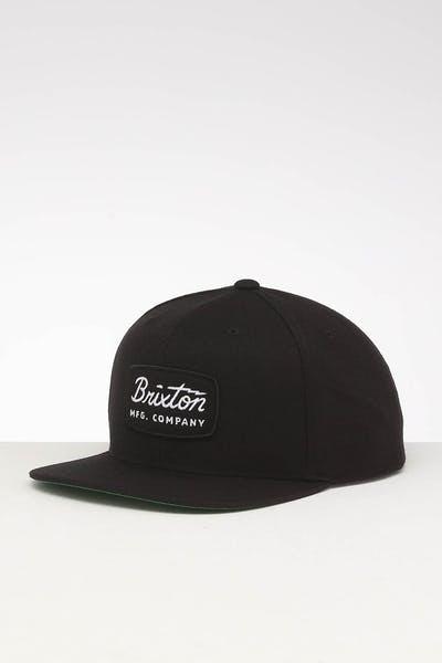 9831dead Brixton Jolt Snapback Black/Black/White