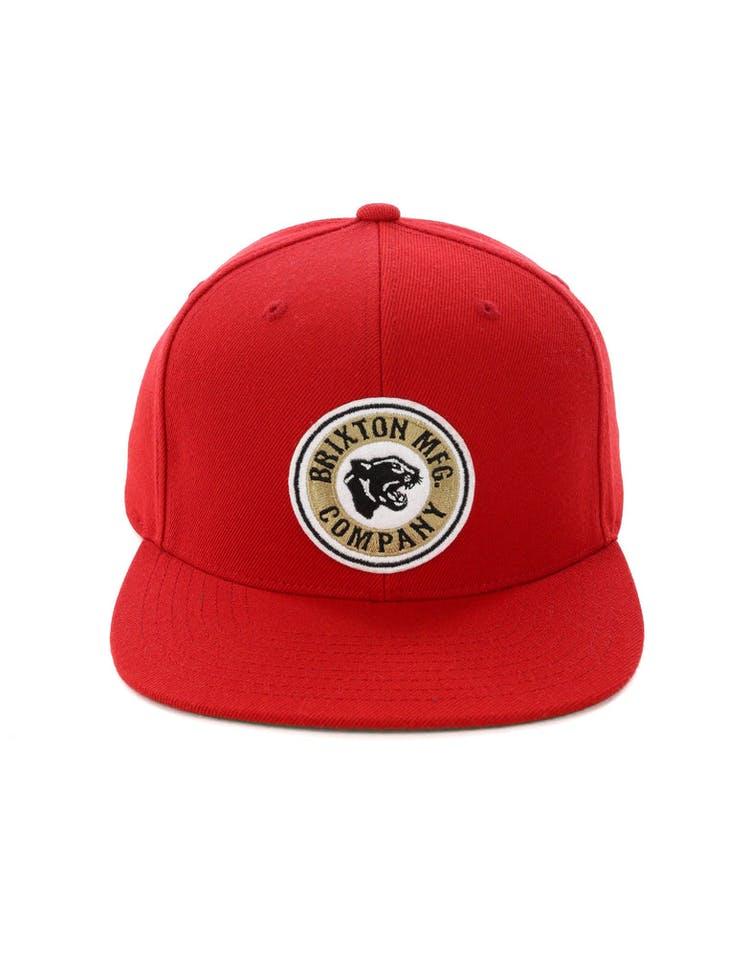 141c5881e0ae96 Brixton Forte Snapback Red – Culture Kings