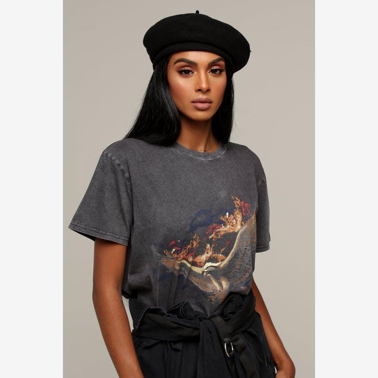 Brixton Women s Audrey Beret Black – Culture Kings a8fee63a3e8