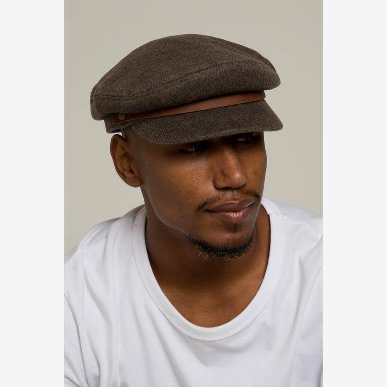 Brixton Fiddler Cap Brown Grey – Culture Kings 82a76b3f6e2