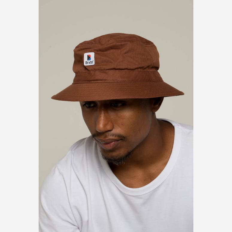 Brixton Stowell Bucket Hat Chestnut – Culture Kings f9e6639e957