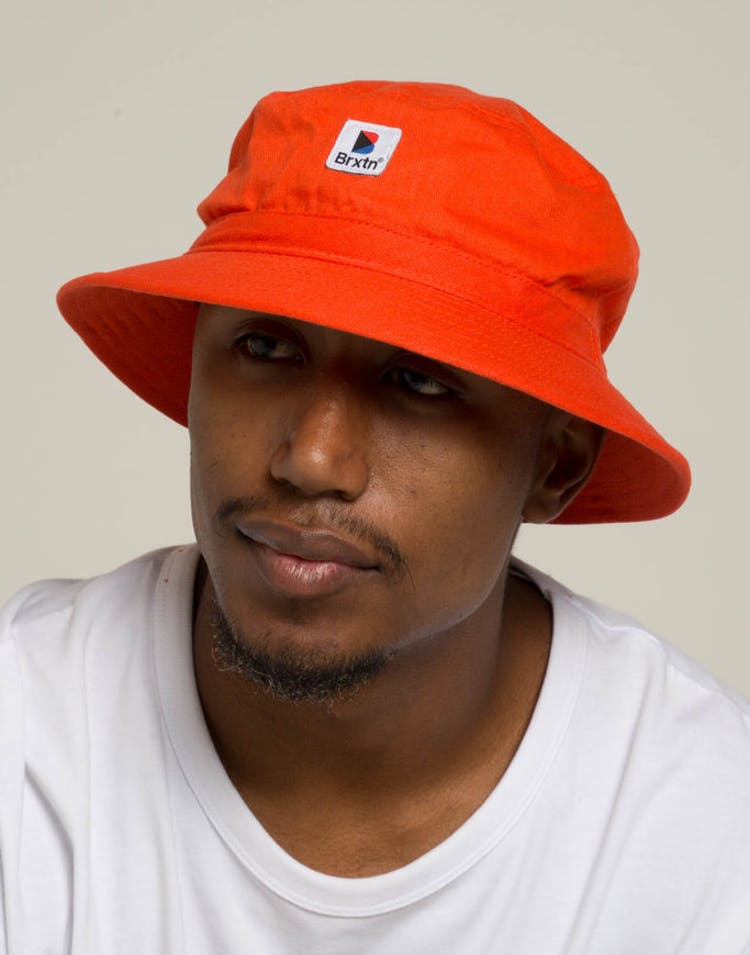 db009a8a Brixton Stowell Bucket Hat Orange – Culture Kings
