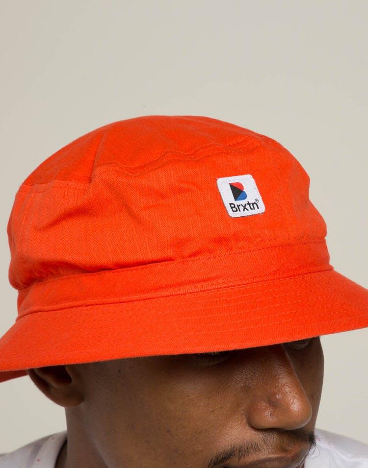f488899715e30 Brixton Stowell Bucket Hat Orange – Culture Kings