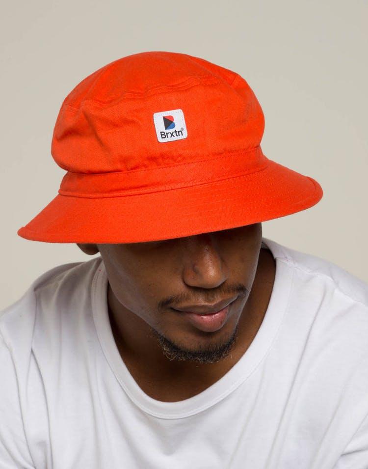 82d3a12a0 Brixton Stowell Bucket Hat Orange