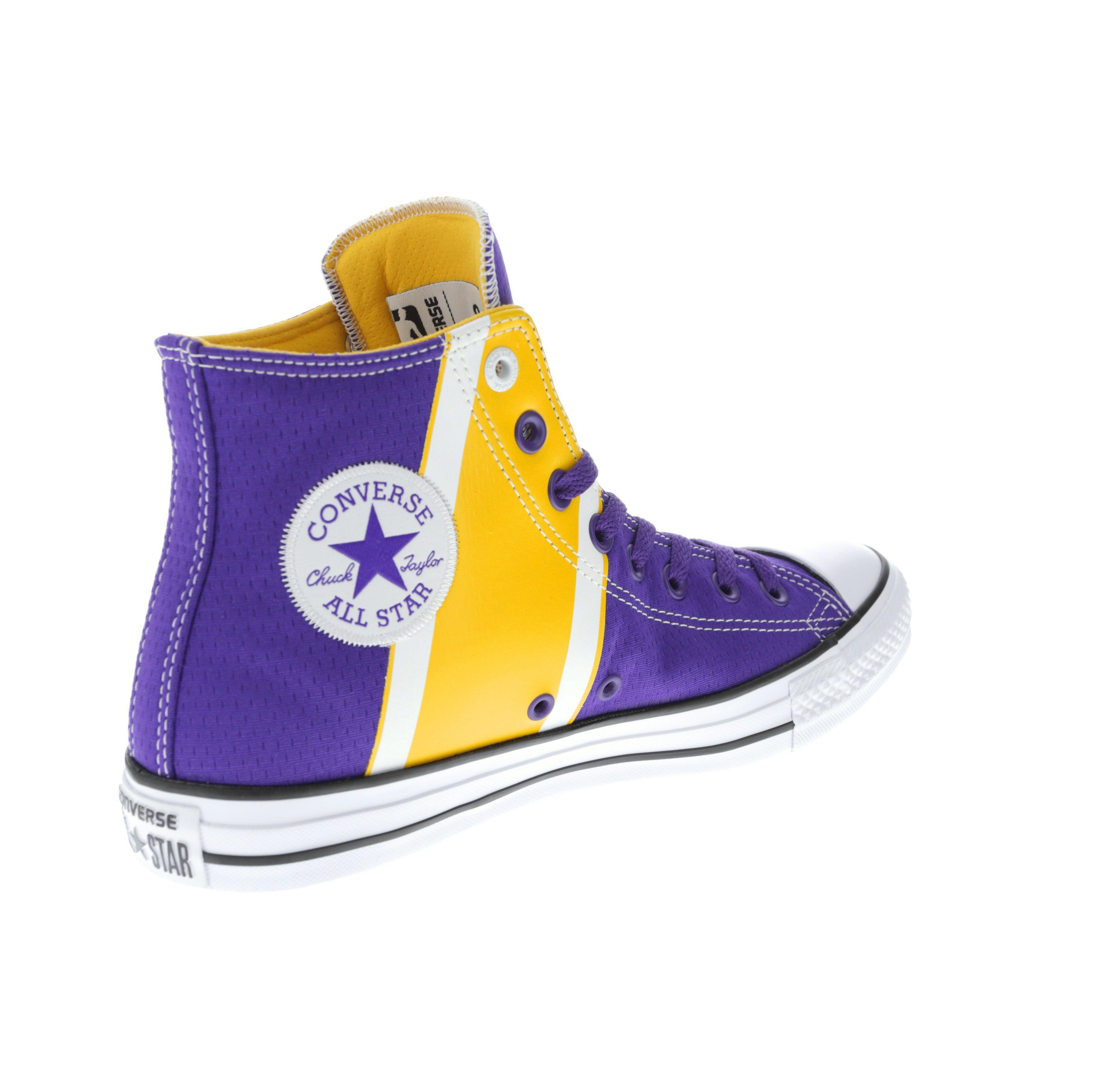 Converse X NBA Chuck Taylor All Star Hi Los Angeles Lakers Purple
