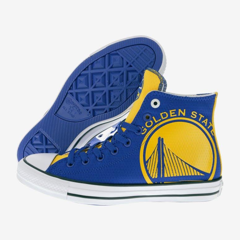 Converse X NBA Chuck Taylor All Star Hi Golden State Warriors Blue ... 5e0ccd35c