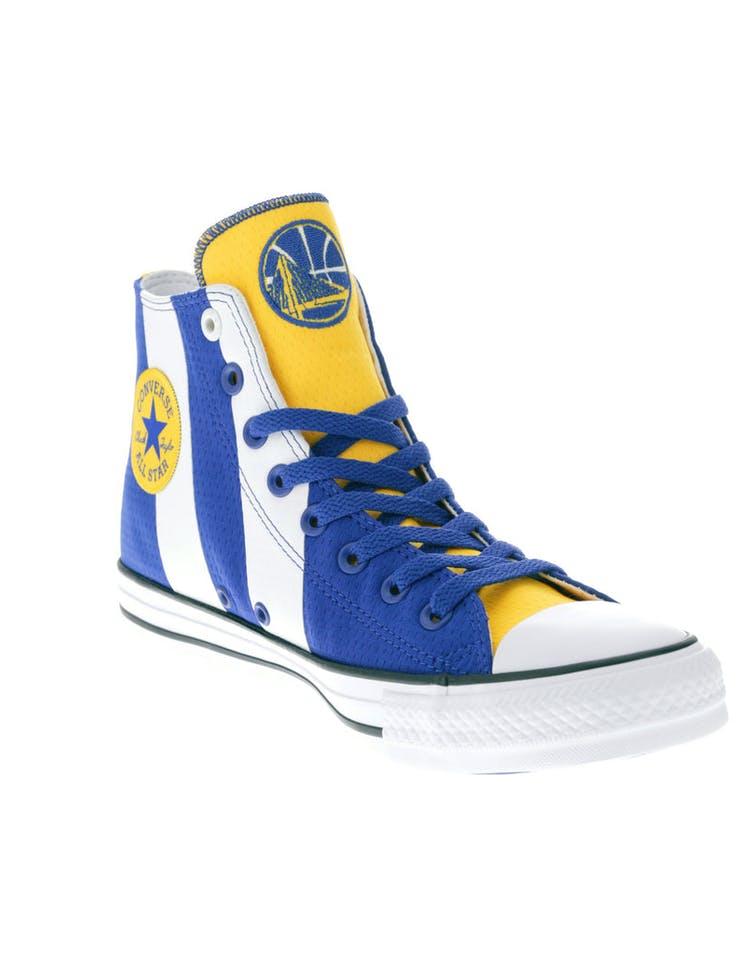 3030f47d6cc03e Converse X NBA Chuck Taylor All Star Hi Golden State Warriors Blue ...