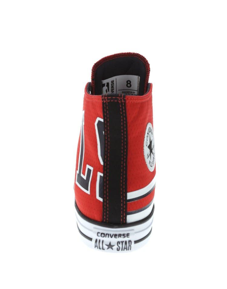 8db269d11a864 Converse X NBA Chuck Taylor All Star Hi Chicago Bulls Red | 159418C ...