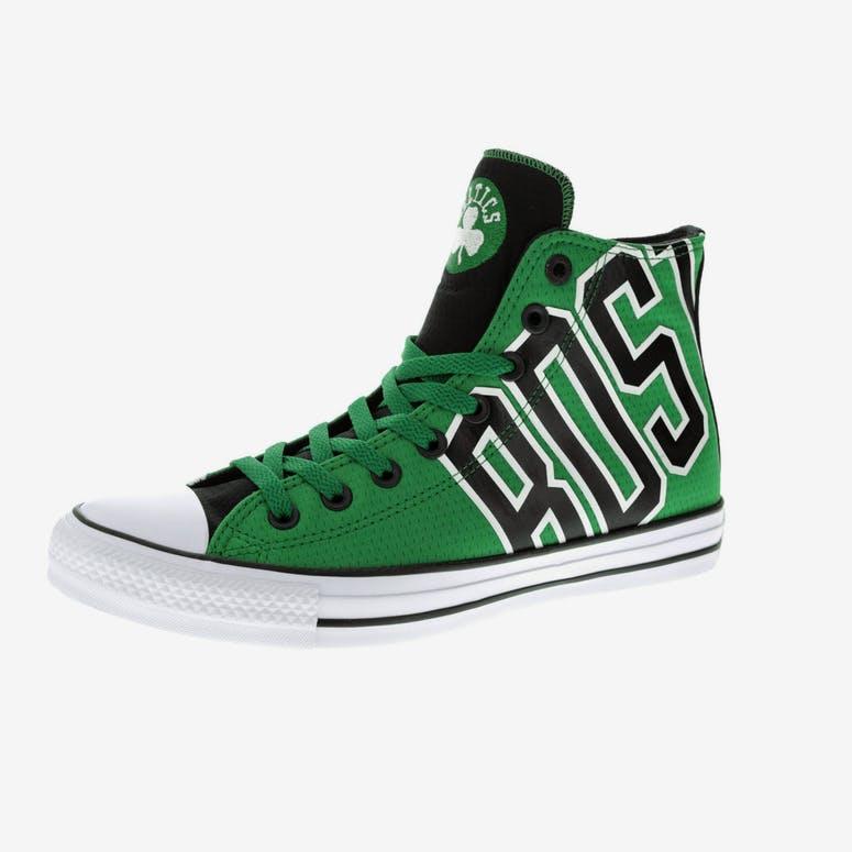 77d0ad6f534 Converse X NBA Chuck Taylor All Star Hi Boston Celtics Green ...