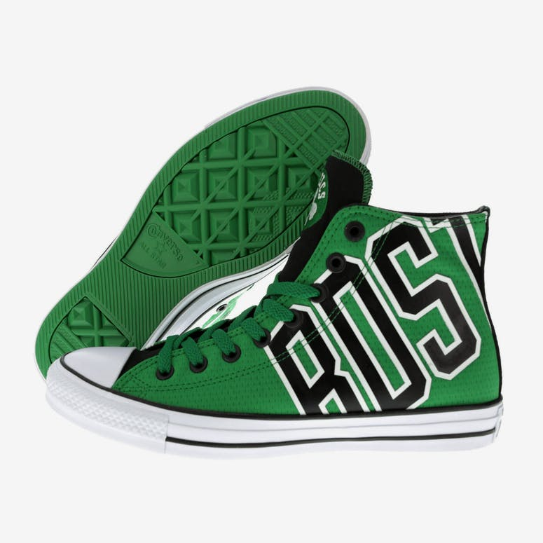 57dd1349ed48 Converse X NBA Chuck Taylor All Star Hi Boston Celtics Green