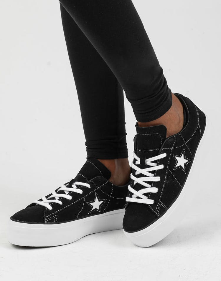 0eb40e25fcf3 Converse One Star Platform Black White – Culture Kings