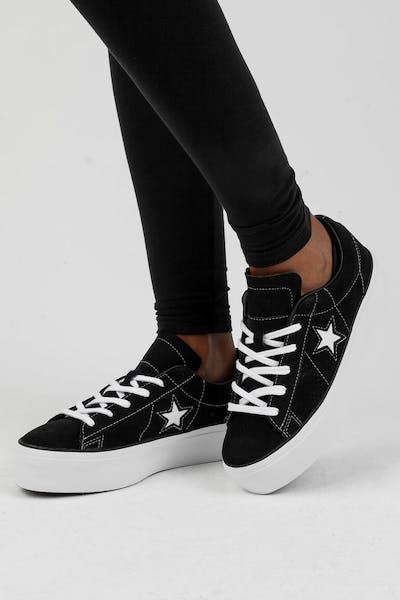 e4b9c83e0c7 Converse One Star Platform Black White