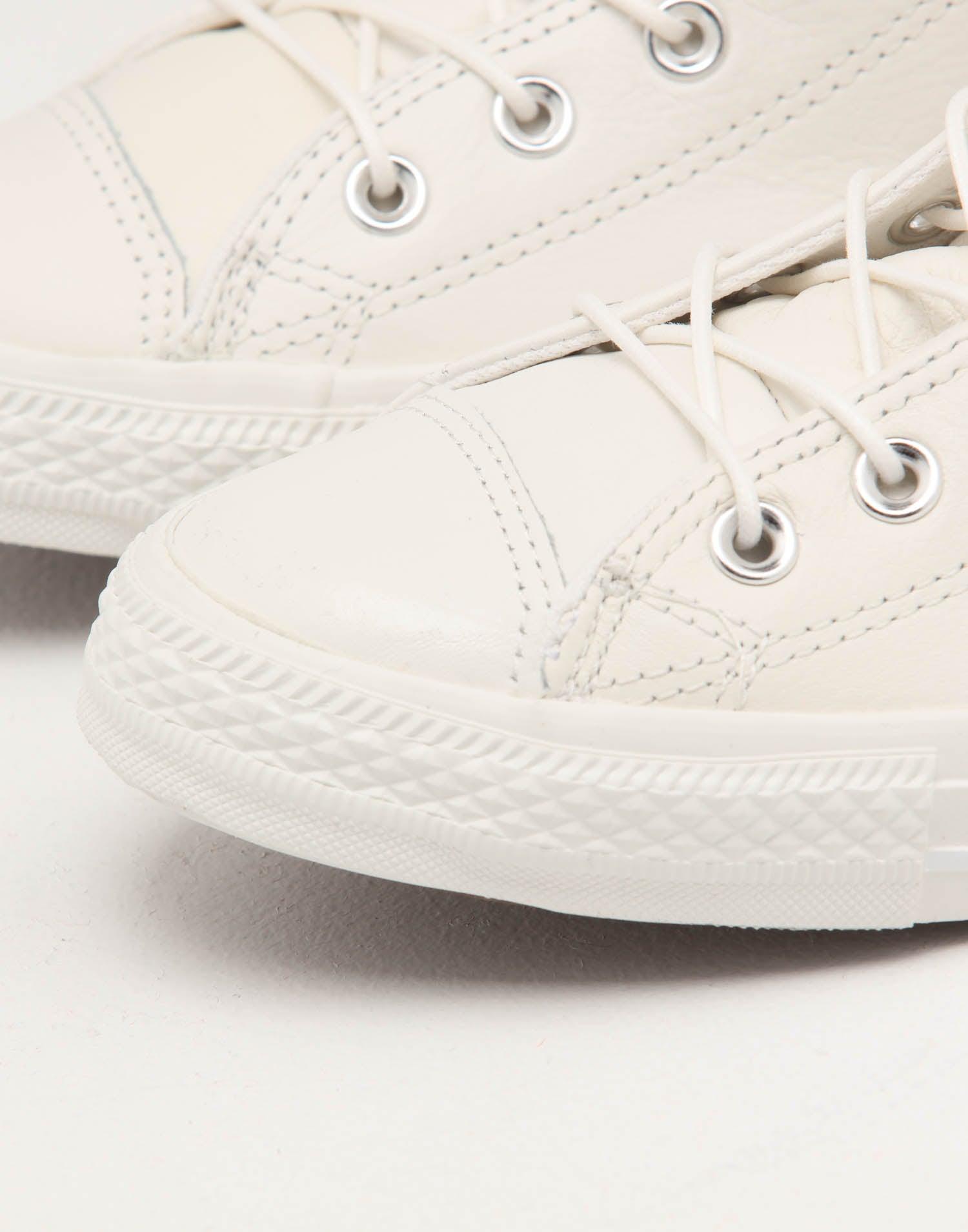 Converse Chuck Taylor Seasonal Leather Hi Vintage White