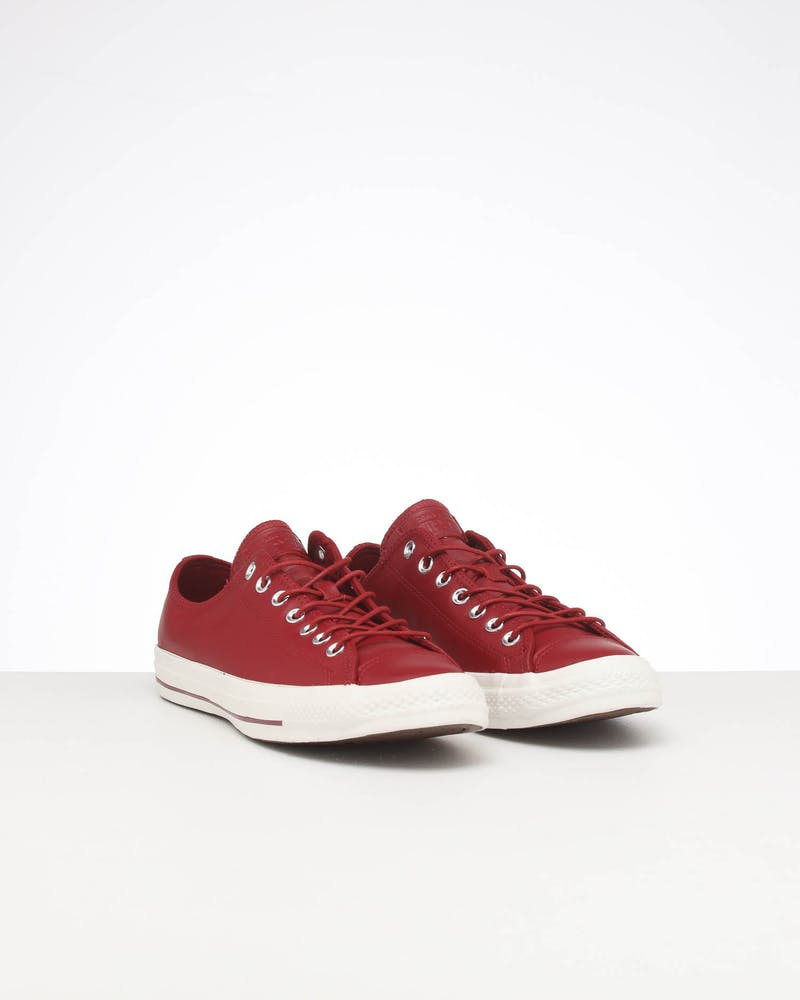 CONVERSE CT SEASONAL LEATHER LOW BRICK/WHITE