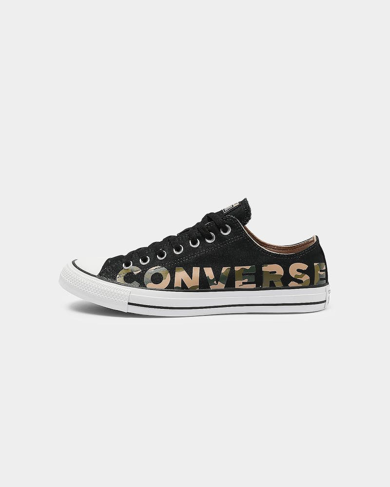 Converse Chuck Taylor All Star Ox Wordmark Black/Multi-Coloured