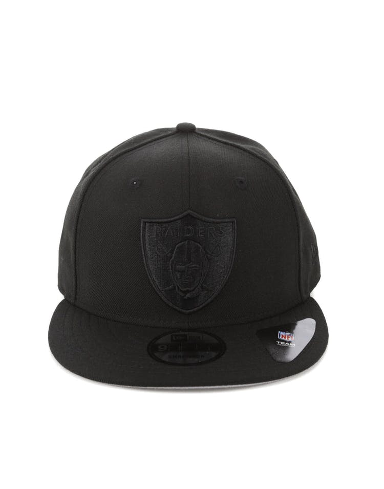 best service 0ea99 b469b New Era Oakland Raiders 9FIFTY Snapback Black Black