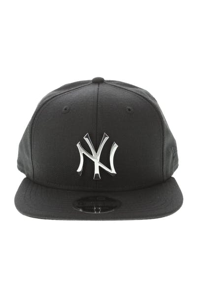 9c75e314d18 New Era New York Yankees Metal 9FIFTY Snapback Black Silver