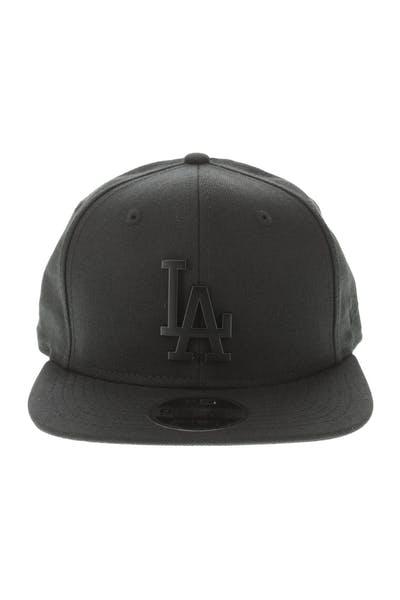 9e5465a0584 New Era Los Angeles Dodgers Metal 9FIFTY Snapback Black Black