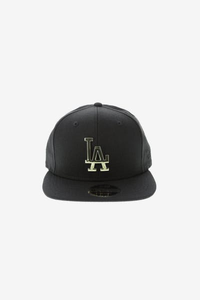 New Era Los Angeles Dodgers Metal 9FIFTY Snapback Black/Gold