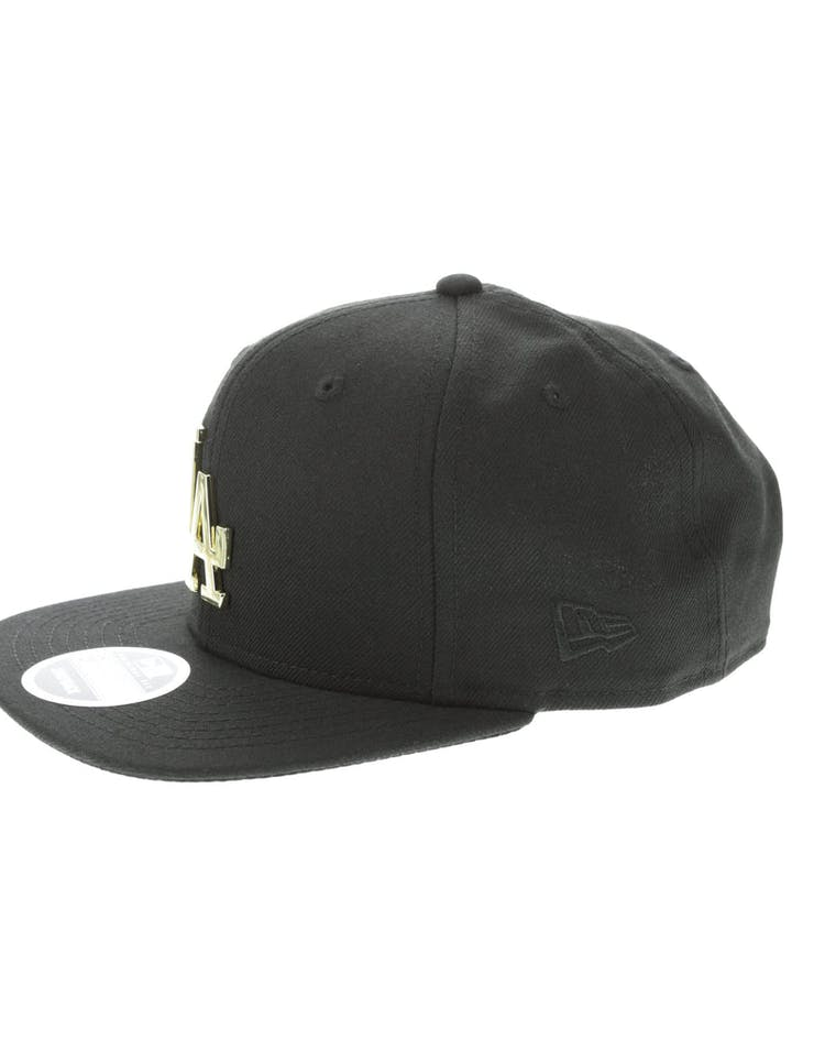 reputable site 0b033 71fc7 New Era Los Angeles Dodgers Metal 9FIFTY Snapback Black Gold