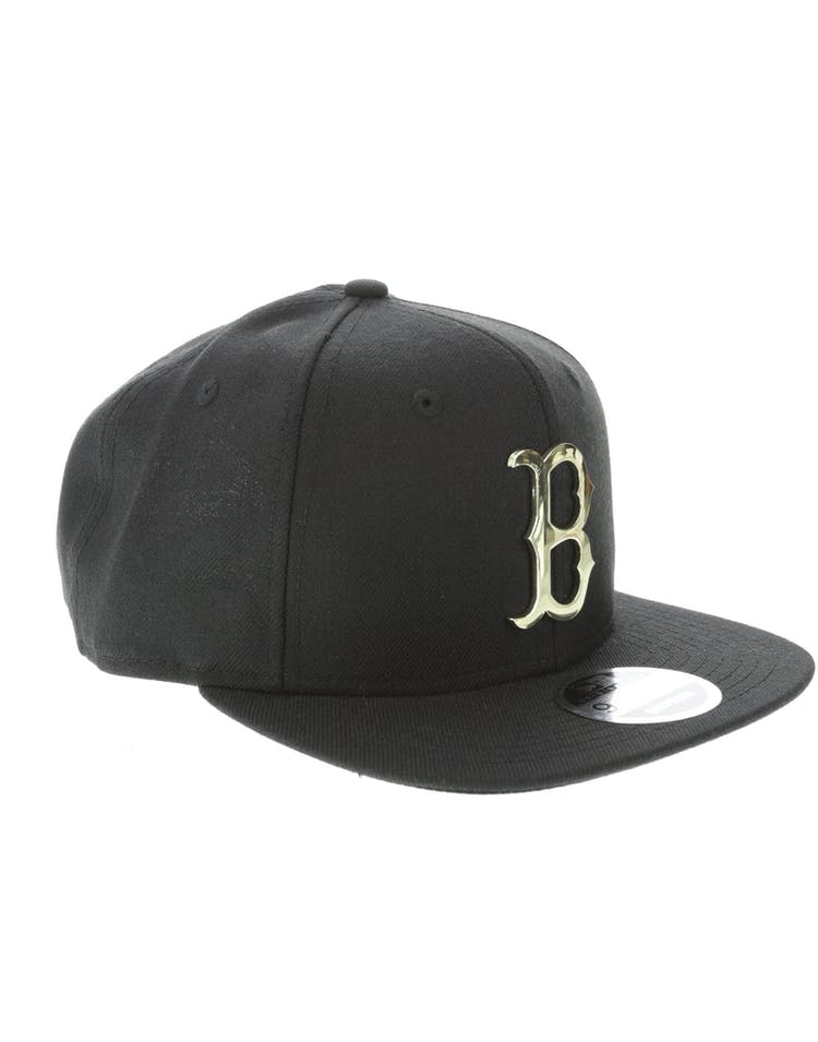 ecf657ed New Era Boston Red Sox Metal 9FIFTY Snapback Black/Gold