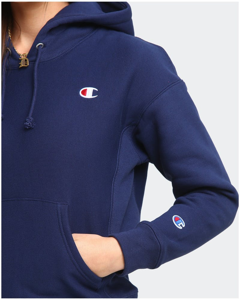 Champion Women's Reverse Weave Hoodie Athletic Navy