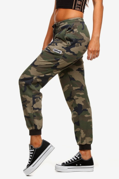 Stussy Women's Box Italic Trackpant Camo