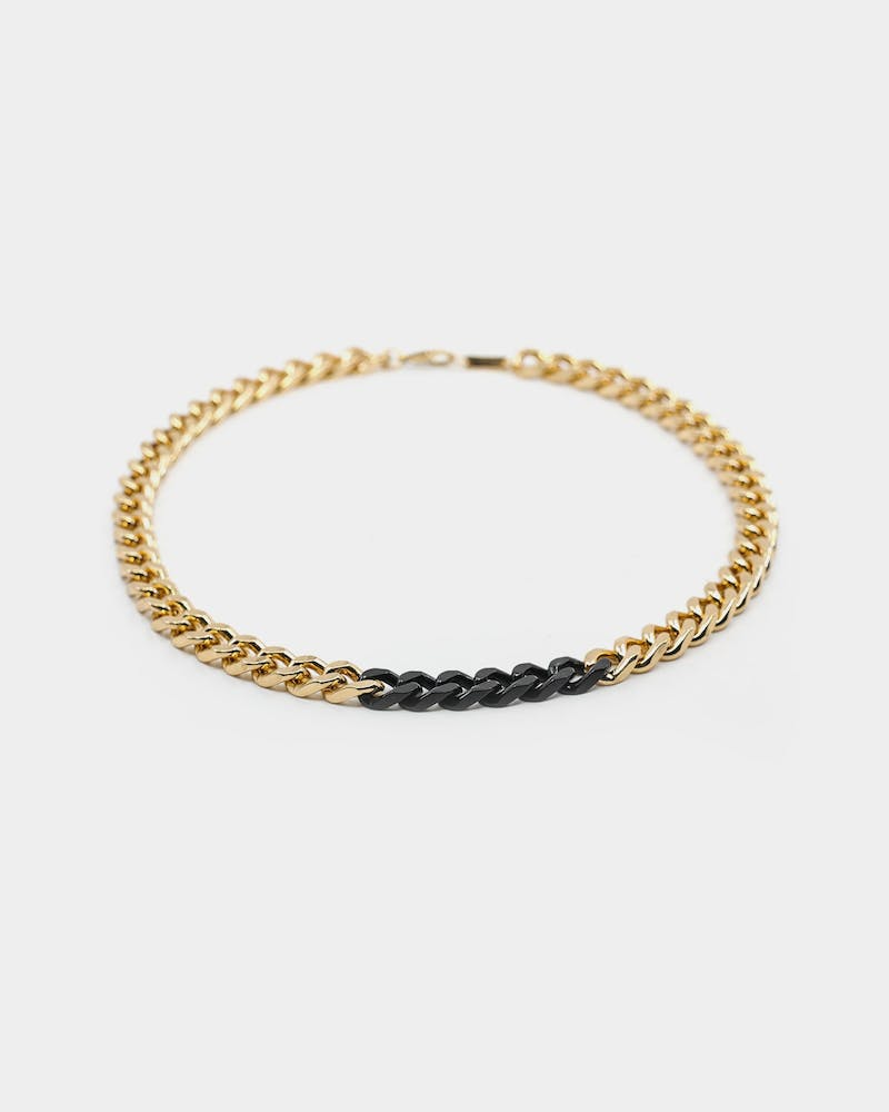 Wild For The Weekend Solid ID Chain Gold/Black