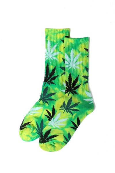 Huf Field Daze Plantlife Crew Sock Green