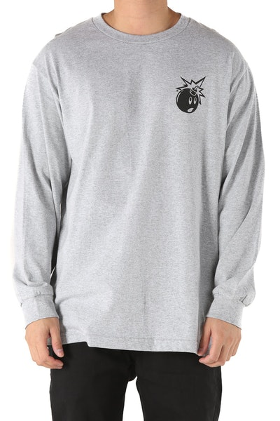 The Hundreds Forever Simple Adam Long Sleeve Tee Grey
