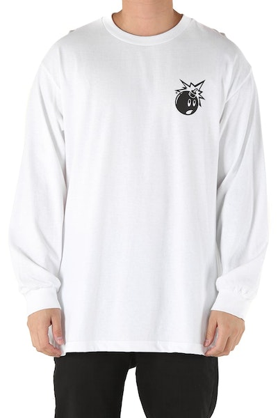 The Hundreds Forever Simple Adam Long Sleeve Tee White